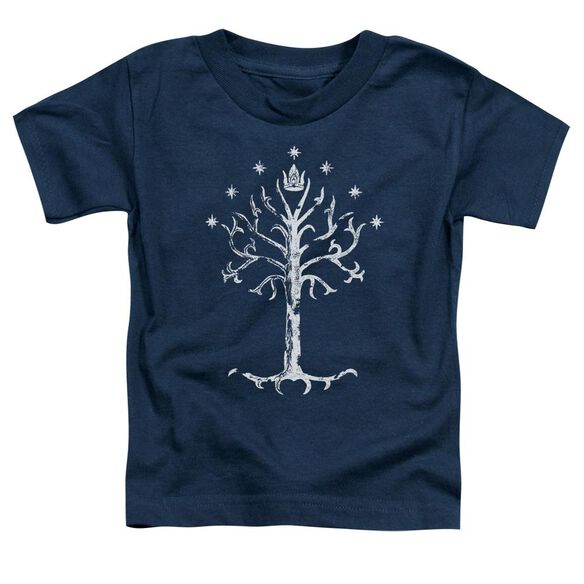 Lor Tree Of Gondor Short Sleeve Toddler Tee Navy T-Shirt