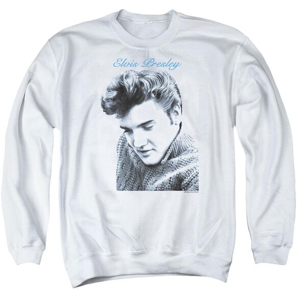 Elvis Script Sweater Adult Crewneck Sweatshirt
