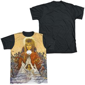 Labyrinth Cover Art Short Sleeve Adult Front Black Back T-Shirt