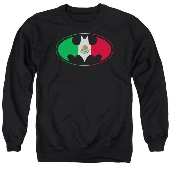 Batman Mexican Flag Shield Adult Crewneck Sweatshirt
