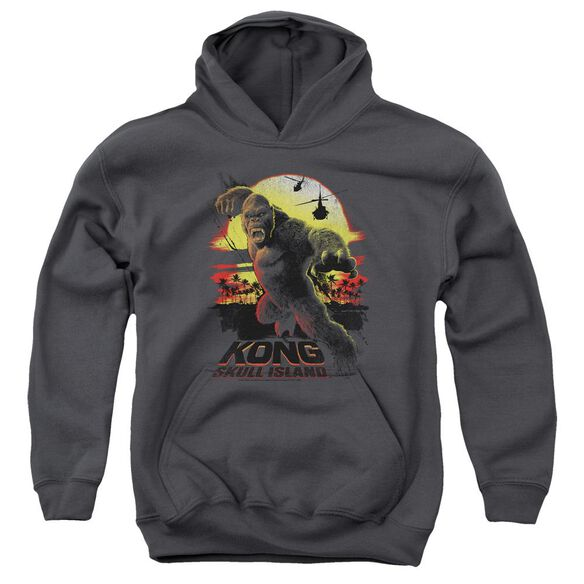 Kong Skull Island Kong Sunset Youth Pull Over Hoodie
