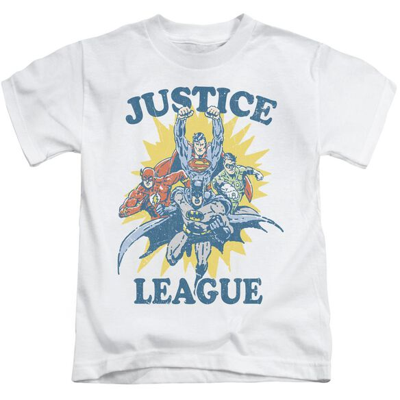 Jla Let's Do This Short Sleeve Juvenile White T-Shirt