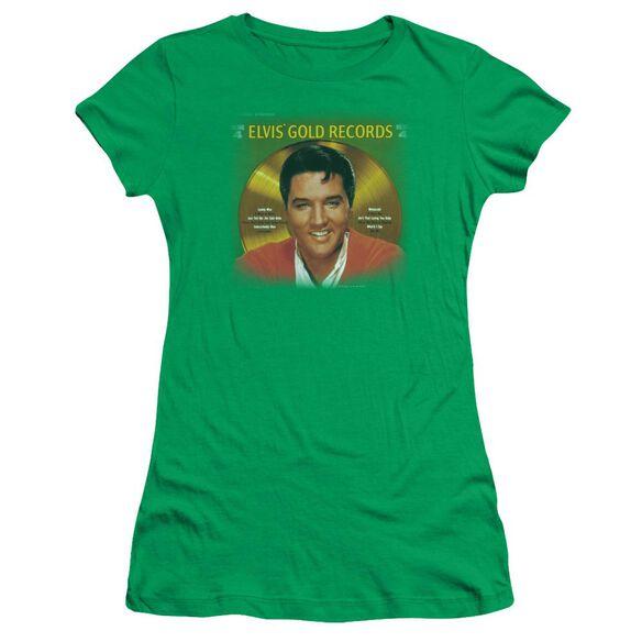 Elvis Gold Records Short Sleeve Junior Sheer Kelly T-Shirt