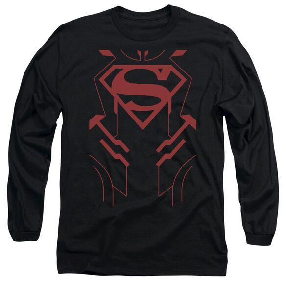 Jla Superboy Long Sleeve Adult T-Shirt