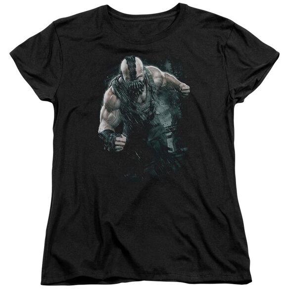 Dark Knight Rises Bane Rain Short Sleeve Womens Tee Black T-Shirt