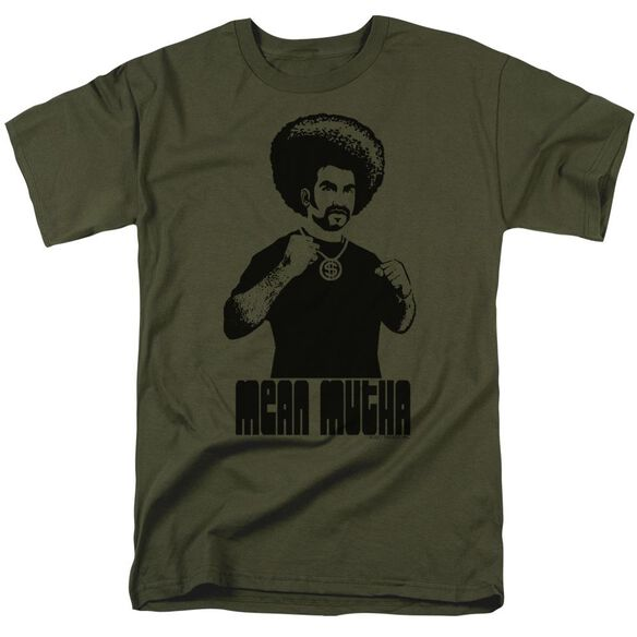 Mean Mutha Short Sleeve Adult Military Green T-Shirt
