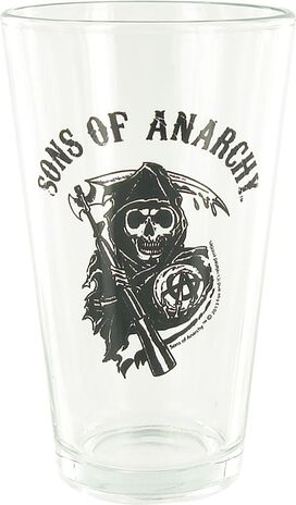 Sons of Anarchy Reaper Clear Pint Glass Set