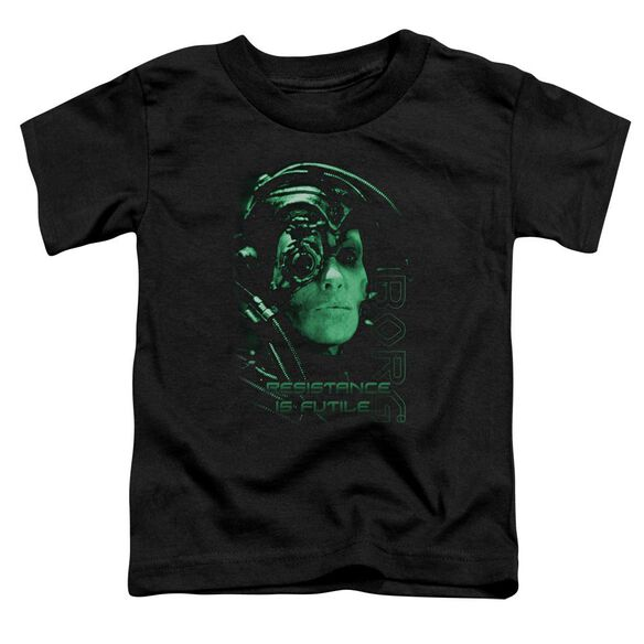 Star Trek Resistance Is Futile Short Sleeve Toddler Tee Black Sm T-Shirt