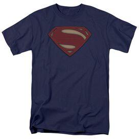 Batman V Superman Super Movie Logo Short Sleeve Adult Navy T-Shirt