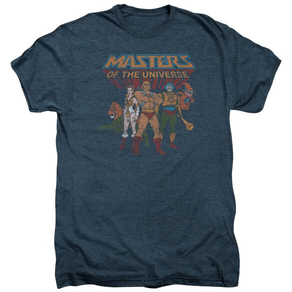 Masters Of The Universe Team Of Heroes Short Sleeve Adult Premium Tee Indigo T-Shirt