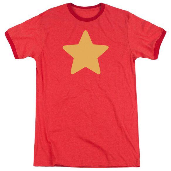 Steven Universe Star Adult Ringer Red