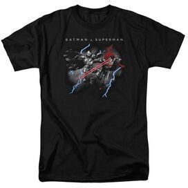 Batman V Superman Lightning Fight Short Sleeve Adult Black T-Shirt