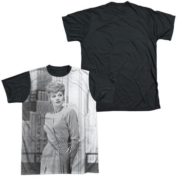Lucille Ball City Girl Short Sleeve Adult Front Black Back T-Shirt