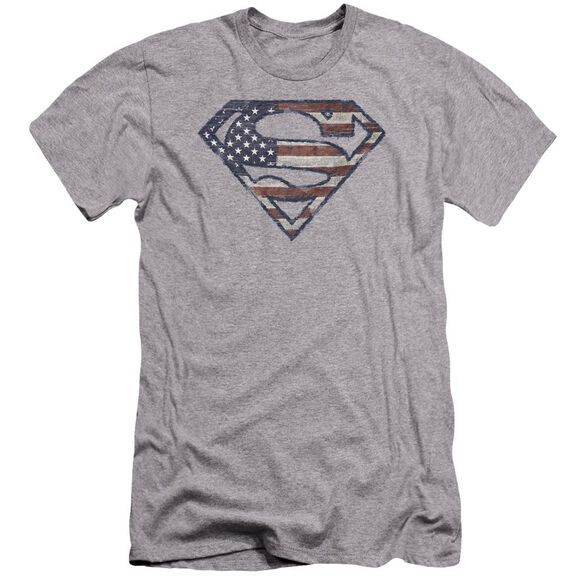 Superman Wartorn Flag Premuim Canvas Adult Slim Fit Athletic