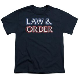 Law And Order Logo Short Sleeve Youth T-Shirt