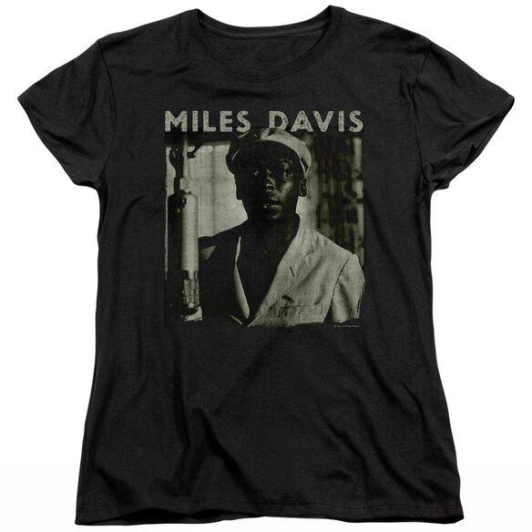 Miles Davis Miles Portrait Short Sleeve Womens Tee T-Shirt