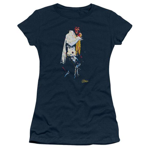 Elvis Yellow Scarf Short Sleeve Junior Sheer T-Shirt