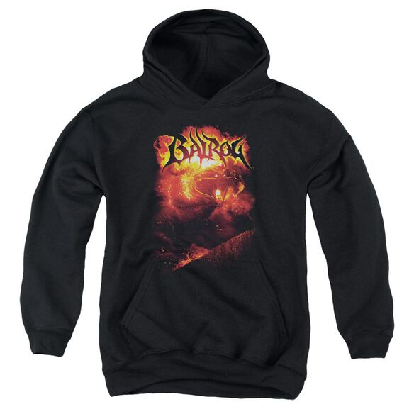 Lor Balrog-youth Pull-over Hoodie - Black