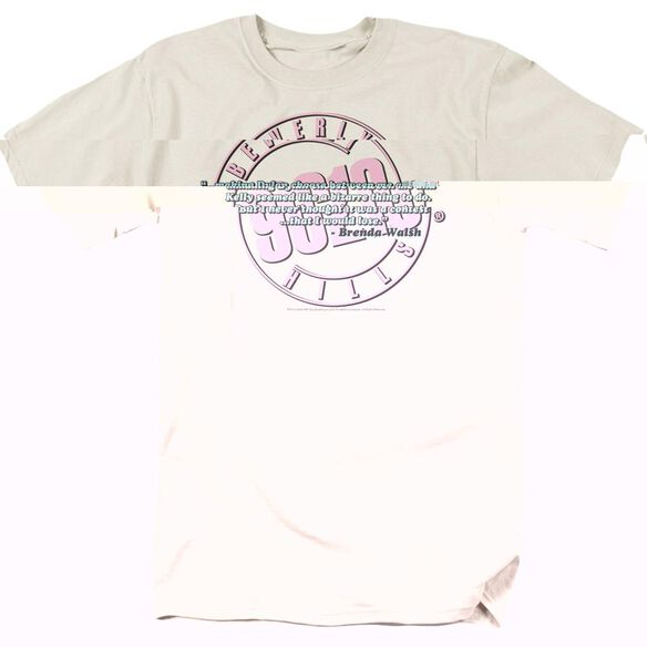 90210 TO BE OR NOT TO BE - S/S ADULT 18/1 - CREAM T-Shirt