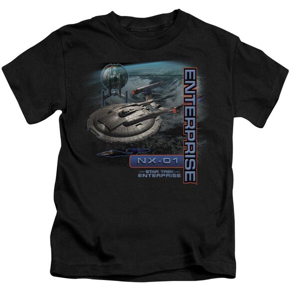 Star Trek Enterprise Nx 01 Short Sleeve Juvenile Black T-Shirt