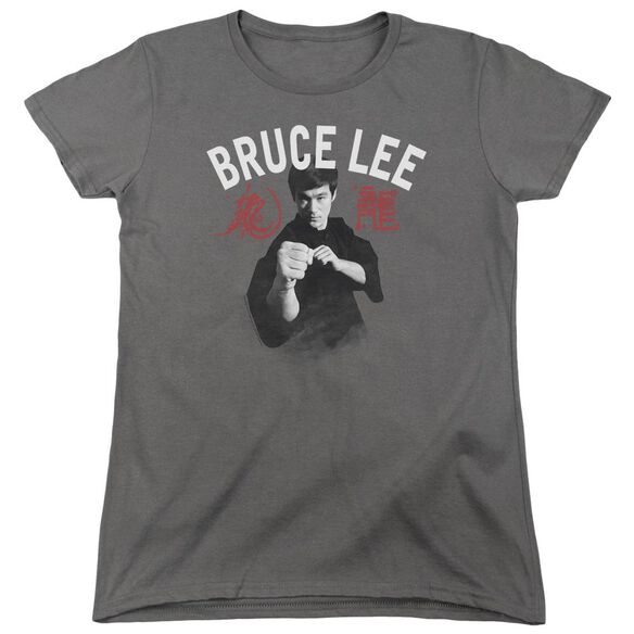 Bruce Lee Ready Short Sleeve Womens Tee T-Shirt