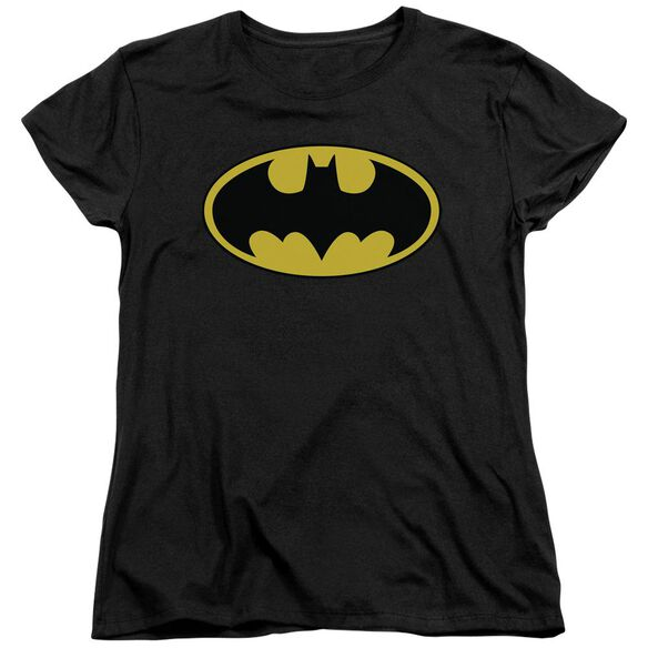 Batman Classic Logo Short Sleeve Women's Tee Black T-Shirt