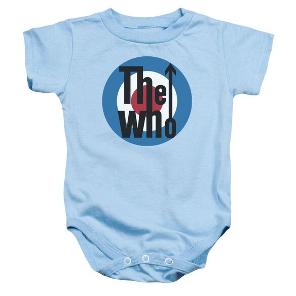 The Who Logo Infant Snapsuit Light Blue