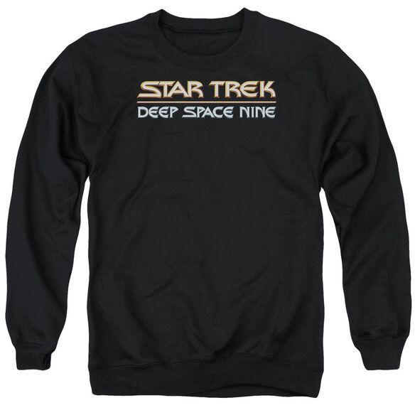 Star Trek Deep Space Nine Logo - Adult Crewneck Sweatshirt - Black