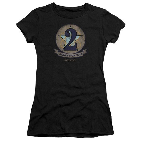 Bsg Strike Fighters Badge Short Sleeve Junior Sheer T-Shirt