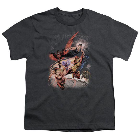 Jla Teen Titans #1 Short Sleeve Youth T-Shirt