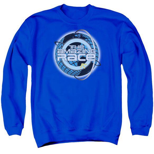 Amazing Race Around The Globe Adult Crewneck Sweatshirt Royal