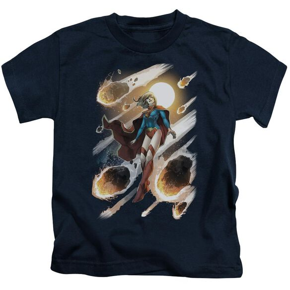 Jla Supergirl #1 Short Sleeve Juvenile Navy T-Shirt
