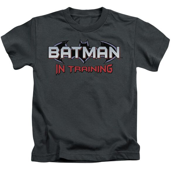 Batman Batman In Training Short Sleeve Juvenile Charcoal T-Shirt