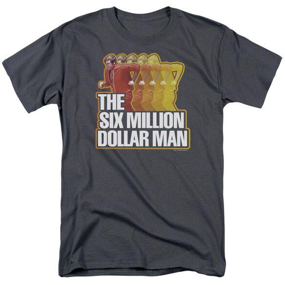 Six Million Dollar Man Run Fast Short Sleeve Adult T-Shirt