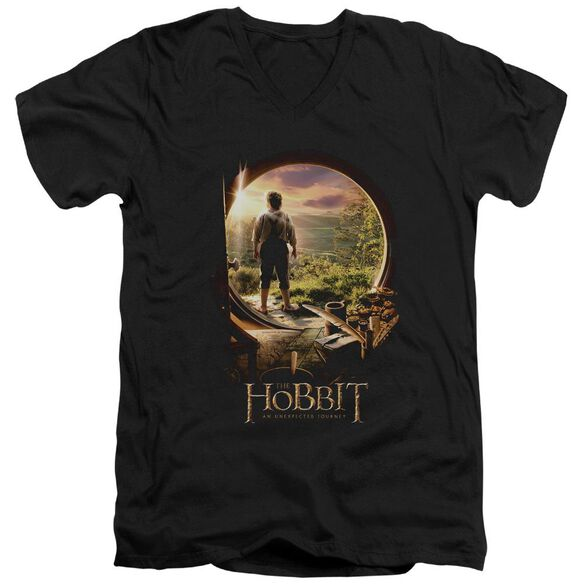 The Hobbit Hobbit In Door Short Sleeve Adult V Neck T-Shirt