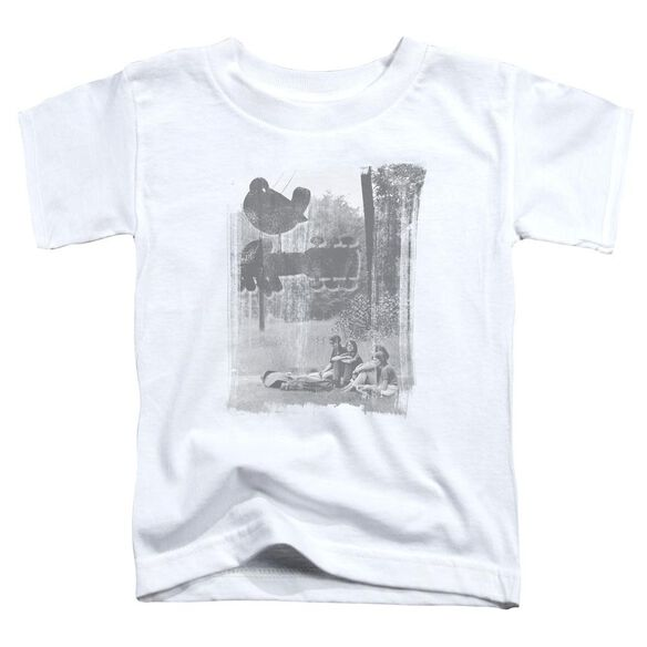 Woodstock Hippies In A Field Short Sleeve Toddler Tee White T-Shirt
