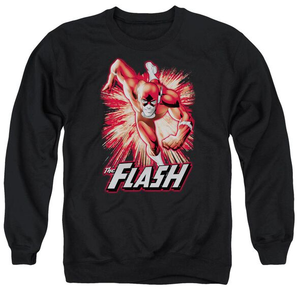 Jla Flash Red &Amp; Gray Adult Crewneck Sweatshirt