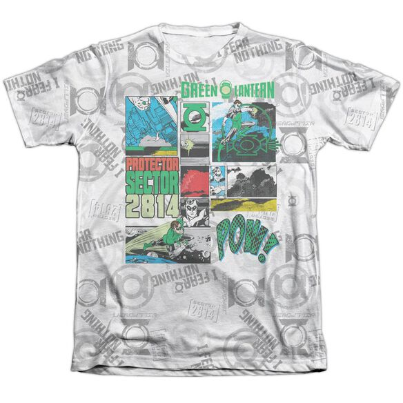 Green Lantern Sector Protecto Adult 65 35 Poly Cotton Short Sleeve Tee T-Shirt