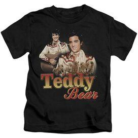 Elvis Teddy Bear Short Sleeve Juvenile Black T-Shirt