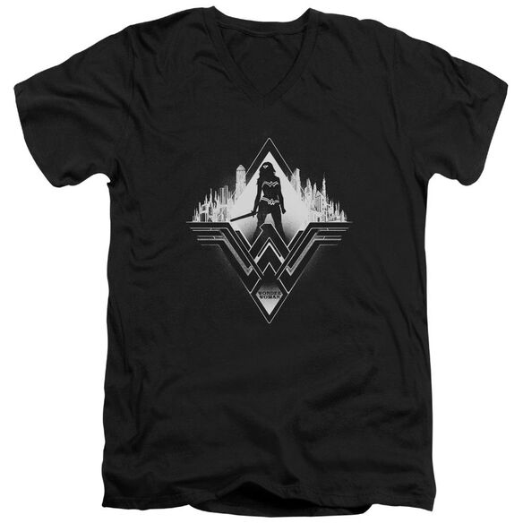 Batman V Superman City Warrior Short Sleeve Adult V Neck T-Shirt