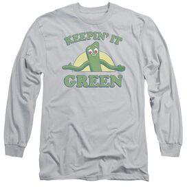 Gumby Keepin It Green Long Sleeve Adult T-Shirt