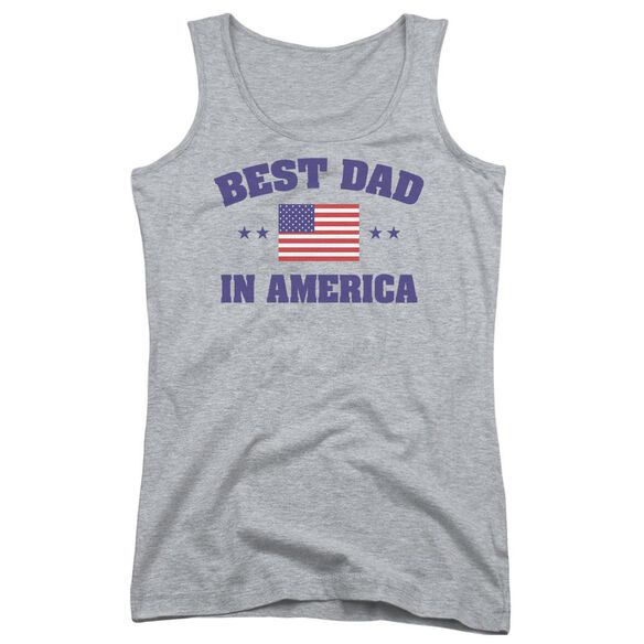 Best Dad Juniors Tank Top Athletic