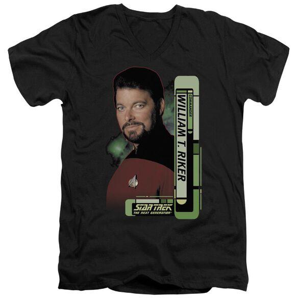 Star Trek Riker Short Sleeve Adult V Neck T-Shirt
