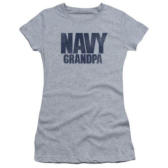 Navy Grandpa Short Sleeve Junior Sheer Athletic T-Shirt