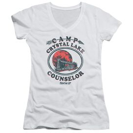 Friday The 13 Th Camp Counselor Junior V Neck T-Shirt