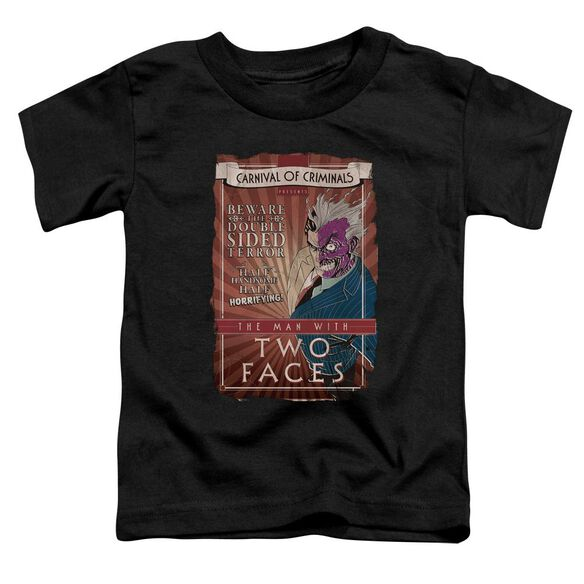 Batman Two Faces Short Sleeve Toddler Tee Black Lg T-Shirt