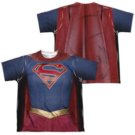 Supergirl Supergirl Uniform (Front Back Print) Short Sleeve Youth Poly Crew T-Shirt