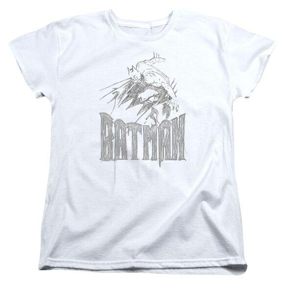 BATMAN KNIGHT SKETCH - S/S WOMENS TEE T-Shirt