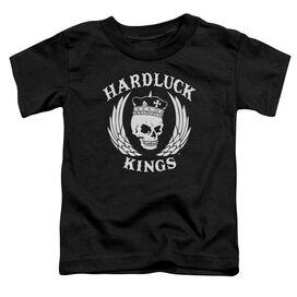 Hardluck Kings Logo Short Sleeve Toddler Tee Black T-Shirt