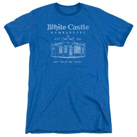 White Castle By The Sack Adult Ringer Royal Blue